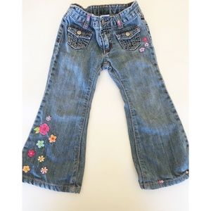 NWT Gymboree girl denim pants jeans skinny boot cut school fall flower harvest 3